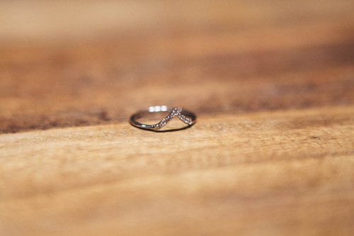 Simple style silver amphibole small tail ring