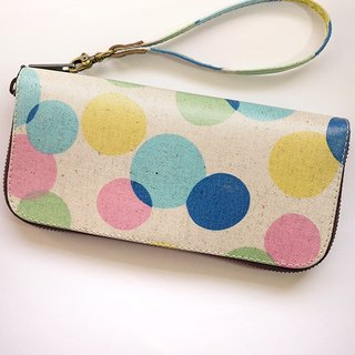 Color dots. Waterproof long clip / wallet / purse / purse