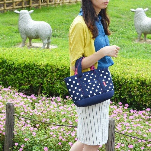 [CB] new color Shuiyu little series washable removable cold deep blue tote bag 4L