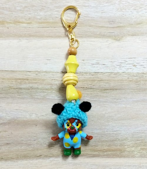 Q ratio makes hand-made key ring - yellow clown Series ▼