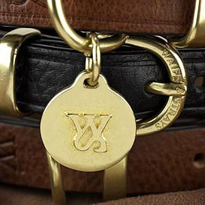 Wes [W & amp; S] solid brass pet tag (no lettering services)