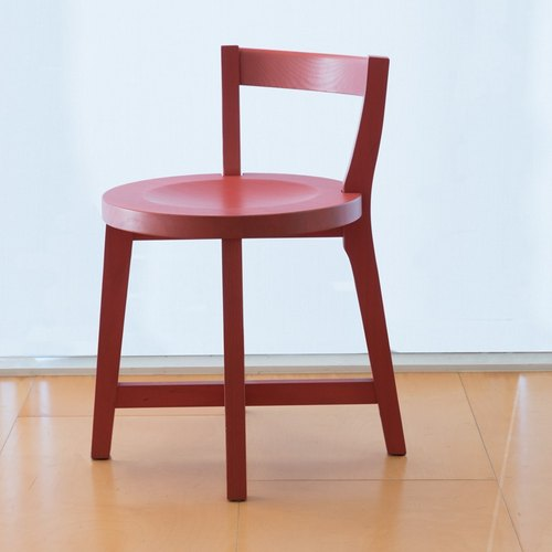 [Love] design door models _ Solid wood furniture: brick red chair Young Duo
