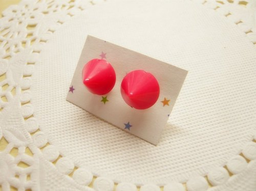 Nadia ♥ cute little cone fluorescent earrings / ear clip * multicolor
