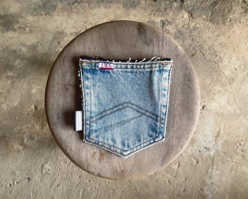 ►Pocket Design- are limited each, unique denim pocket bag - light-colored hills