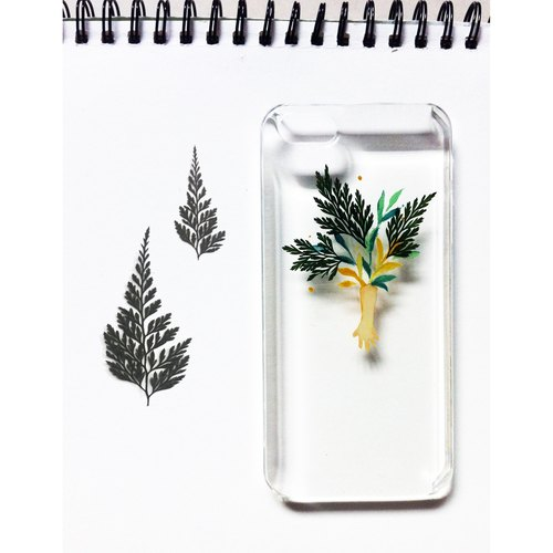 """Vegetation by the"" hand-painted potted specimen original iPhone, Case"