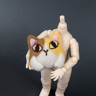 <Wool felt> Hugging Calico Cat(M Size) - by WhizzzPace