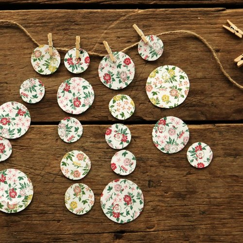 Dailylike A4 cloth handle -81 cranberry flower stickers, E2D89534