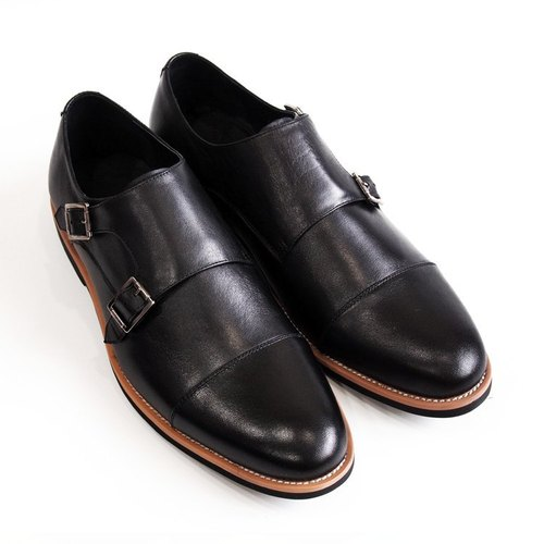 [LMdH] C1B07-99 leather nubuck leather hand-painted open Phut Twill black ‧ ‧ Munch shoes free shipping