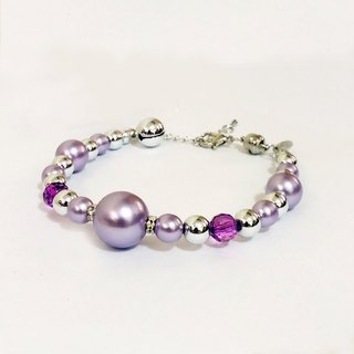 Ella Wang Design jewelry pearl necklace - purple cat collar pet collar necklace handmade fashion
