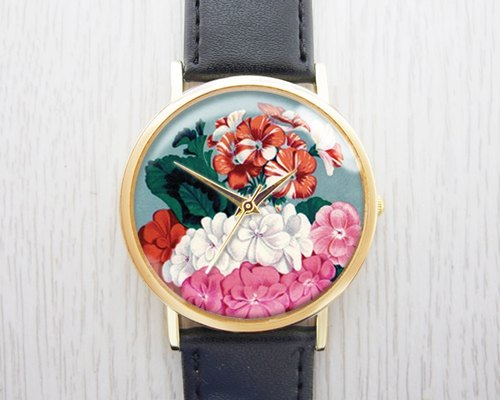 Plants and flowers - fashion watches leather strap ︱ ︱ ︱ men and women popular to wear with the best holiday gift items