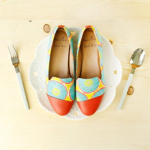 ---------- Shoes Party ---------- colorful fruit sugar oblique stitching Oubei La / shoes / handmade custom / Japanese cloth