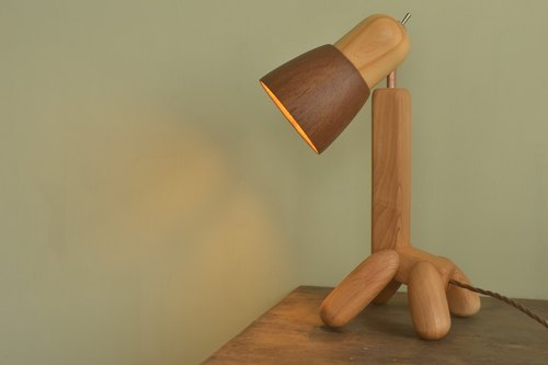 MoziDozen The Giraffe  table lamp  wooden  handmade