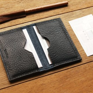 weekenlife - Leather Card Case ( Custom Name ) - Harley Black