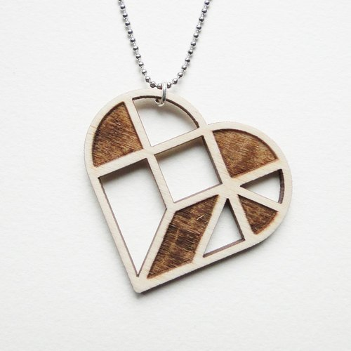 ❖ New Year's gift ❖ atrium / geometric wooden necklace