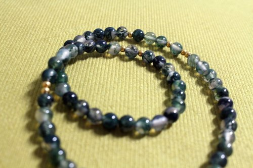 ☆, .- * '108 perles Green Movies / aquatic agate bracelet 6MM double ring