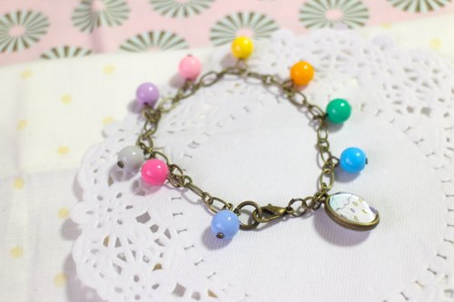 [Time] traditional fashion gemstone bracelet candy ball