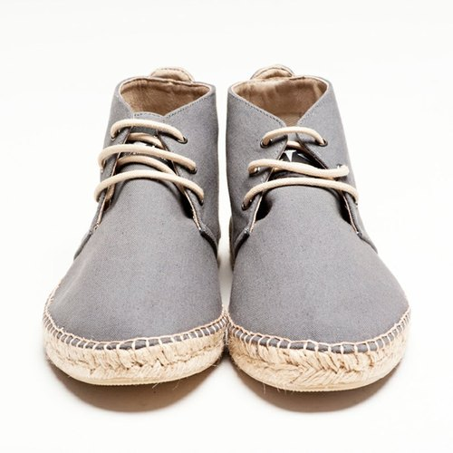 ARCHIBALD MID-in-tube hemp sails shoes - gray