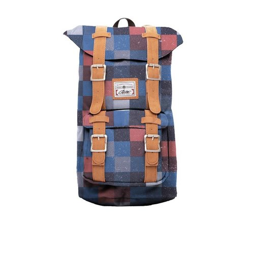 RITE | Travellers' package - red and blue checkered | after the original removable backpack