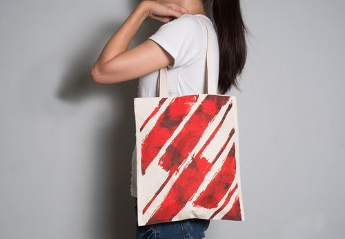 Hand-painted handprints Peibu sided bag] [Bloodstain pattern hand / shoulder