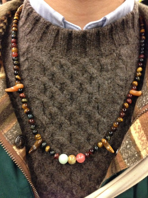 Tiger Eye Crystal tricolor fight Nordic ethnic necklace