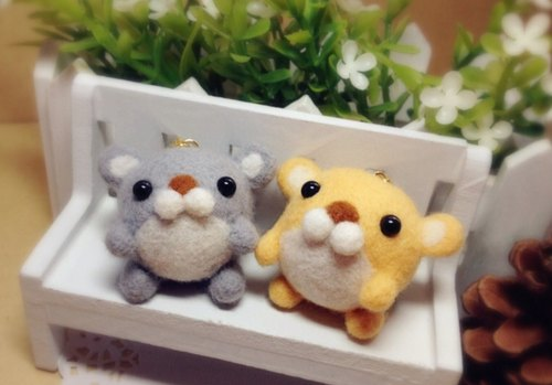 [I.Pets love pets] pure hand-made Super Meng Department healing Wool felt Taro Farm / chipmunk / Gold mouse / hamster headphone plug dust plug Charm Key Chains