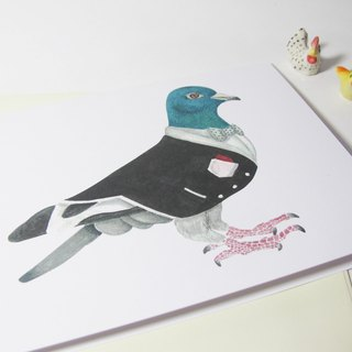 panda grocery store - tuxedo handsome pigeon-purpose card
