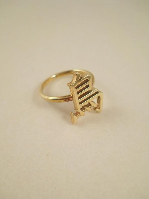 "Cut character ring ""bird"""