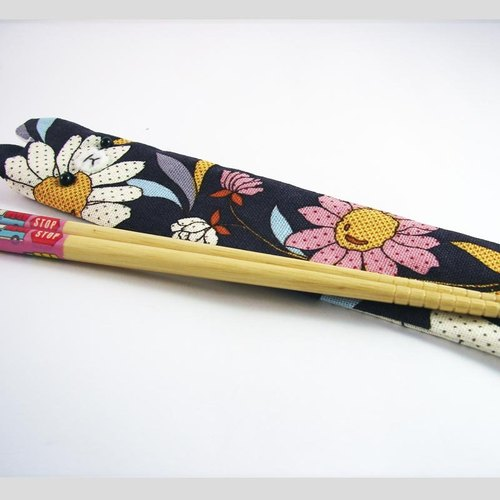 "Cheerful. Hand sewing Limited ""portable chopsticks sets / chopsticks / chopsticks / cutlery,"" the Japanese _ purple"