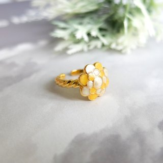 Glorikami  Yellow Cauliflowers Ring