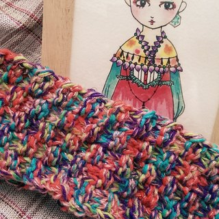 Lan hand knit headband for the summer (colorful macarons)