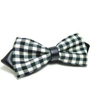 ▲ cusp Mo Green plaid tie -Hand-made Bow Tie