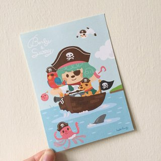 Professional pirate postcards