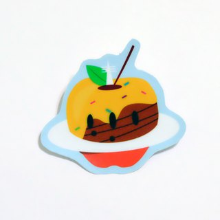 Afternoon tea party: Cosmic Apple waterproof stickers
