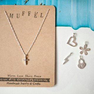 MUFFëL 925 Silver Silver Series - Cross necklace collarbone