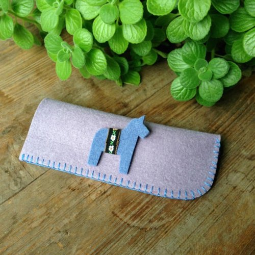 Handmade custom Korea felt cloth bags sunglasses glasses bag Pouch
