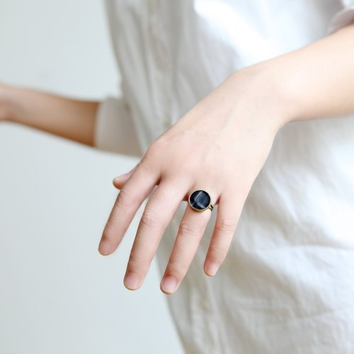 RE independent hand-made leather ring [rad - round]
