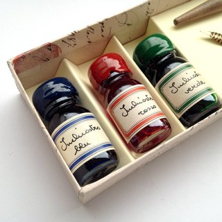 36pippo Classic Writing Set- Wooden Nibholder+3 assorted inks / Francesco Rubina