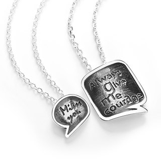 Lovers on Chain - Love message Lovers on 925 Silver Pair Valentine's Day -ART64