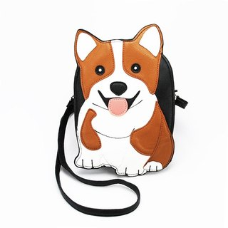 Sleepyville Critters -Corgi Dog Shoulder Crossbody Bag