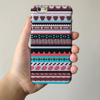 Brown Navajo Tribal Pattern 3D Full Wrap Phone Case, available for  iPhone 7, iPhone 7 Plus, iPhone 6s, iPhone 6s Plus, iPhone 5/5s, iPhone 5c, iPhone 4/4s, Samsung Galaxy S7, S7 Edge, S6 Edge Plus, S6, S6 Edge, S5 S4 S3  Samsung Galaxy Note 5, Note 4, Not