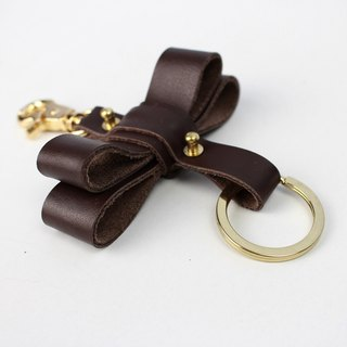 Zemoneni Leather oversize butterfly style key chain in Brown color