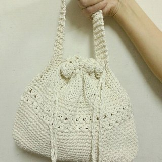 Cotton tote bag is harness mouth