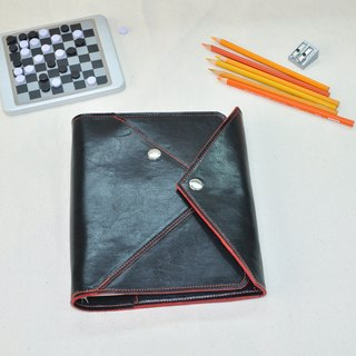 X- Life Series: Black crazy horse A5 6 hole loose-leaf notebook
