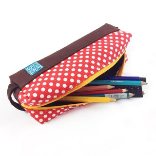 WaWu Pen Case (red dot fabric)