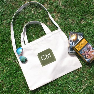 Keyboard Series Ctrl Cultural & Creative wind horizontal canvas bag
