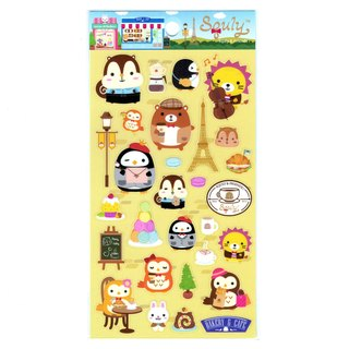 Squly & Friends Cafe Theme Sticker (E007SQS)