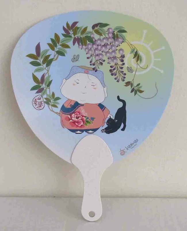 Paper Fan: Four Seasons woman