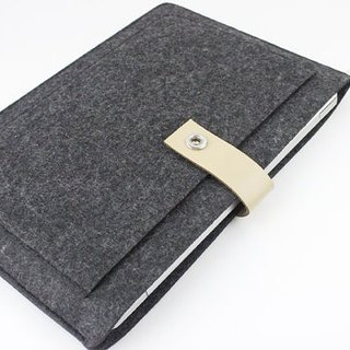 [Customizable] Original handmade dark gray felt felt sleeve protective sleeve Apple laptop bag Macbook Air 13.3 MacBook Air 13-inch computer bag (can be tailored) - ZMY036DG13A