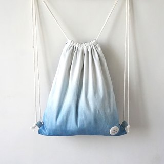 S.A x Ocean, Indigo dyed Handmade Natural Pattern Backpack