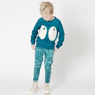 Nordic organic cotton children's hand dyed pants